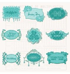 Vintage design elements for scrapbook vector