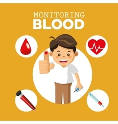 monitoring Blood design medical and healthcare vector image