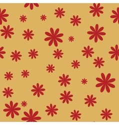 flower red seamless pattern 2 vector image