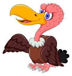 Cute vulture cartoon posing vector
