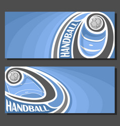 Banners for handball vector