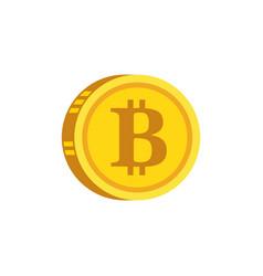 bitcoin digital gold concept icon vector image vector image