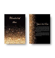bling background with gold lights vector image