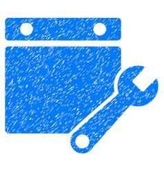 Calendar tuning grunge icon vector