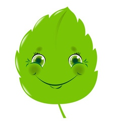 Cartoon leaf vector image vector image