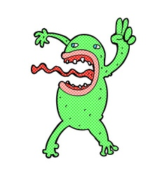 Comic cartoon crazy frog vector