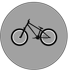 dirt street sport bicycle vector image