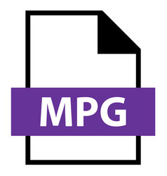 File name extension mpg type vector