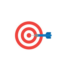 flat design style concept of bullseye with dart vector image vector image
