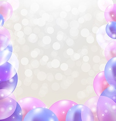 Happy Birthday Card With Pastel Balloons vector image vector image