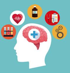 Human head brain medicine symbol concept vector