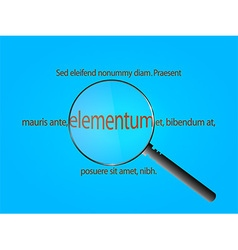 Magnifier and sample text vector