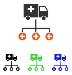 medical delivery structure flat icon vector image vector image