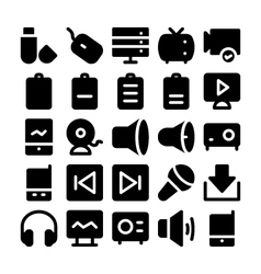 Multimedia Icons 7 vector image vector image