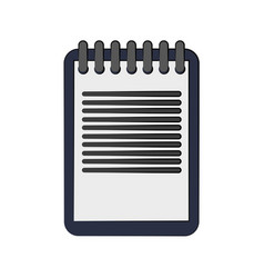 notepad with lines icon image vector image vector image