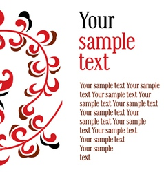 ornament textual frame vector image