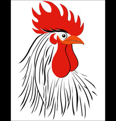 Rooster bird concept of chinese new year rooster vector