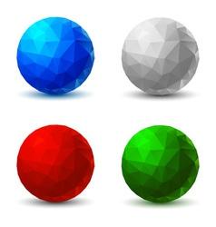 Set of geometric balls vector