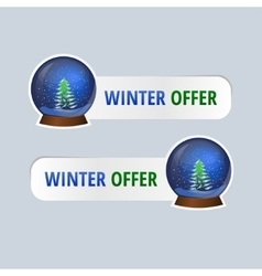 stickers for winter offers vector image
