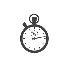 Stopwatch icon classic isolated on white vector