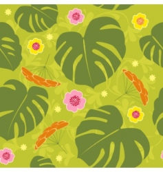 tropical seamless floral vector background vector image