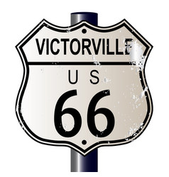 Victorville route 66 sign vector