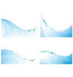 Water waves vector image vector image