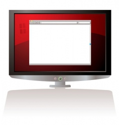 web browser monitor vector image vector image