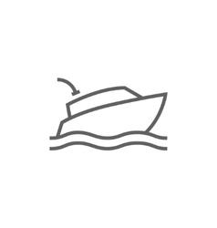 Yacht line icon vector