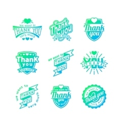 Thank you badge icons vector image