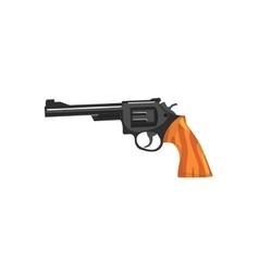 Vintage small revolver gun vector