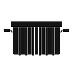 Garbage tank icon simple style vector