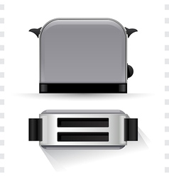 Toaster icons top and side view vector