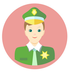 icon man sheriff in a flat style image on vector image