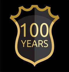 Golden shield 100 years vector
