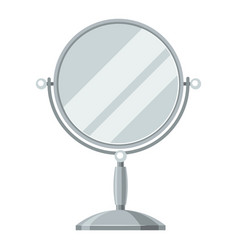 mirror for make up of object on vector image