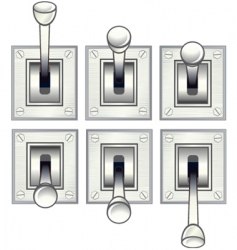 Toggle switch vector