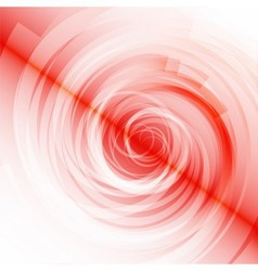 Red spiral on white background vector