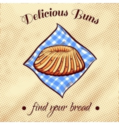 Bread on a napkin 20 vector