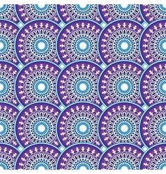 Vintage violet-blue-white seamless pattern vector