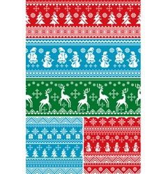 Seamless christmas patterns vector