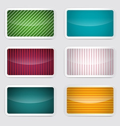 Background set - retro paper colorful cards vector