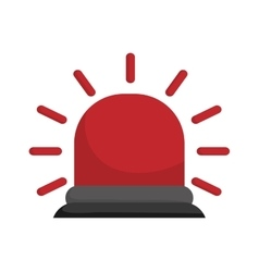 Alarm icon industrial security design vector