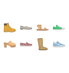 A variety of shoes icons in set collection for vector