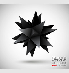 abstract explosion polyhedron vector image vector image