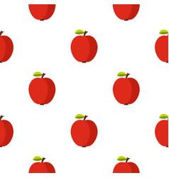 Apple pattern flat vector