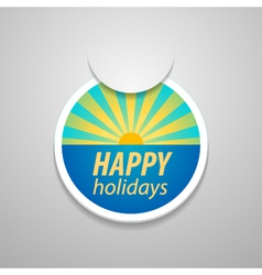 Attach happy holidays sticker vector image vector image