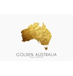 Australia map Golden Australia logo Creative vector image