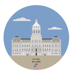 Baltimore city hall vector