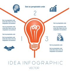 Business Concept Light bulb infographic 3 vector image vector image